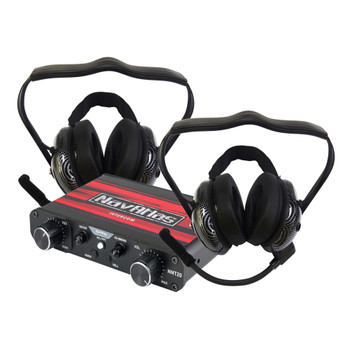 NavAtlas NIB220PK - Powersports NNT20 Intercom System with 2 pairs of NB200 Headphones
