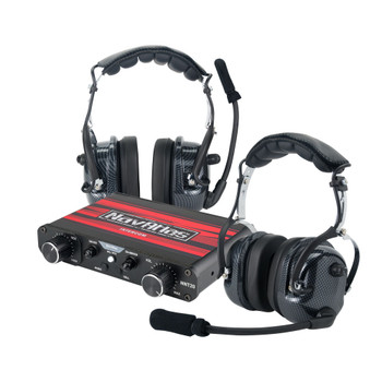 NavAtlas NI0230PK - Powersports NNT20 Intercom System with 2 pairs of NO300 Over The Head Headphone