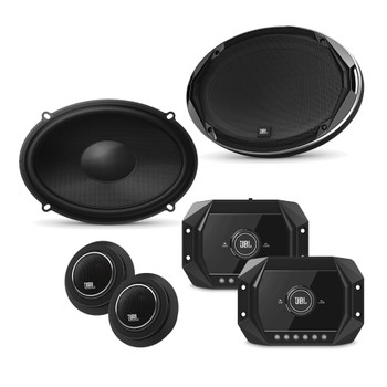 JBL - 2 Pairs Of Stadium GTO960C 6x9-Inch Component Speakers + ARC Audio X2 450.4 500 Watt 4 Channel Amp With Wiring Kit