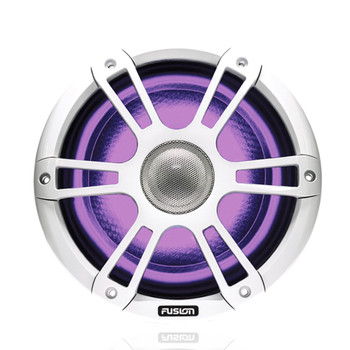 "Fusion Entertainment SG-FL652SPW 6.5"" 230 Watt Coaxial Sports White Marine Speaker with CRGBW - Pair"