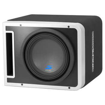 "Alpine S-SB10V 10"" Vented Loaded Halo Enclosure with Alpine KTA-30MW Weather resistant Amplifier"