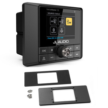 JL Audio MM50 with MMP-2-BK Universal Mounting Plate in Black