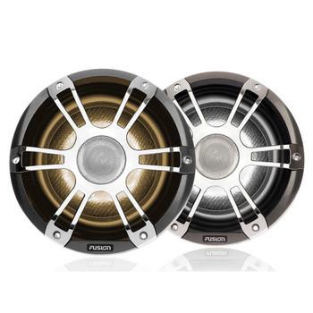 "Fusion 2-Pairs SG-FL772SPC 7.7"" 280 Watt Coaxial Sports Chrome Marine Speaker with CRGBW"
