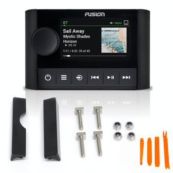 Fusion MS-ERX400 Apollo Wired Display Remote with MS-SRX400FMK Front Flush Kit for APOLLO MS-SRX400/MS-ERX400