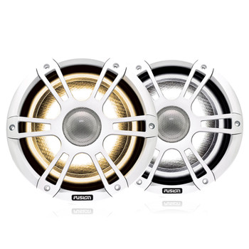 """Fusion 2-Pairs SG-FL772SPW 7.7"""" 280 Watt Coaxial Sports White Marine Speaker with CRGBW"""