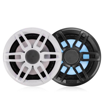 "Fusion 2-Pairs XS-FL65SPGW XS Series 6.5"" 200 Watt RGB Sports Marine Speakers White & Gray Grills Included"