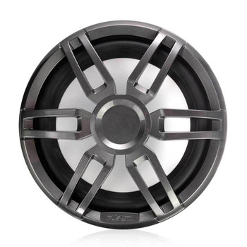 """Fusion 2- XS-SL10SPGW 10"""" 600 Watt XS Series Sport White and Gray Grills Included Marine Subwoofer with RGB"""