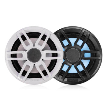 "Fusion 2-Pairs XS-FL77SPGW XS Series 7.7"" 240 Watt RGB Sports Marine Speakers White & Gray Grills Included"