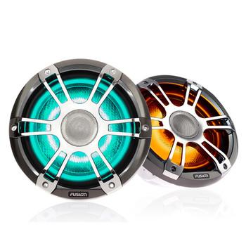 "Fusion 2-Pairs SG-FL652SPC 6.5"" 230 Watt Coaxial Sports Chrome Marine Speaker with CRGBW"