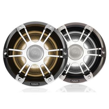 "Fusion 2-Pairs SG-FL882SPC 8.8"" 330 Watt Coaxial Sports Chrome Marine Speaker with CRGBW"