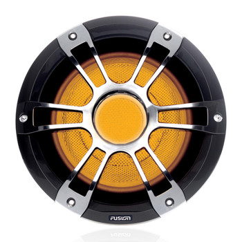 "Fusion 2- SG-SL102SPC 10"" 600 Watt Signature Series 3 Sports Chrome Marine Subwoofer with CRGBW"