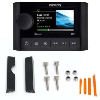 Fusion MS-SRX400 Marine Radio System with MS-SRX400FMK Front Flush Kit for APOLLO MS-SRX400