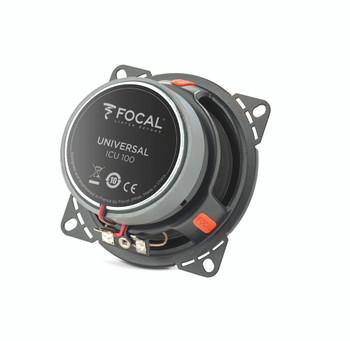 Focal ICU 100 4 Inch Coaxial Kit, RMS: 500W - MAX: 100W - Open Box