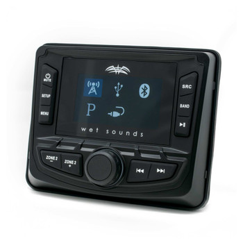 Wet Sounds WS-MC2: 3-Inch Gauge Style Marine Media System with 2.7-Inch Full-Color LCD Display, Bluetooth - Used Acceptable