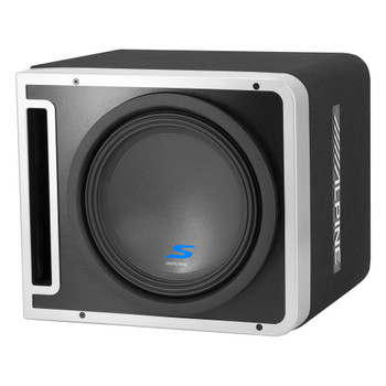"Alpine S-SB12V 12"" Vented Loaded Halo Enclosure with Alpine KTA-30MW Weather resistant Amplifier"