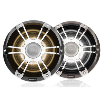 "Fusion Entertainment SG-FL882SPC 8.8"" 330 Watt Coaxial Sports Chrome Marine Speaker with CRGBW"