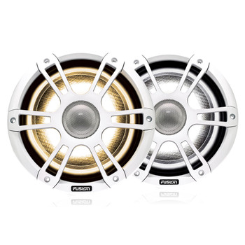"Fusion Entertainment SG-FL882SPW 8.8"" 330 Watt Coaxial Sports White Marine Speaker with CRGBW - Pair"