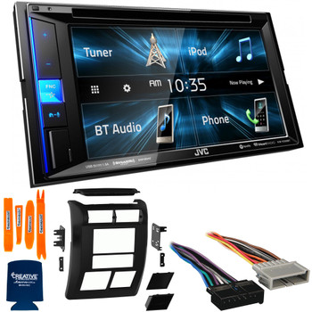 """JVC Bundle - Dash Kit, Wiring Harness and Antenna Adaptor with JVC KW-V250BT 6.2"""" Multimedia Receiver, Compatible with Jeep Wrangler, 97-02"""