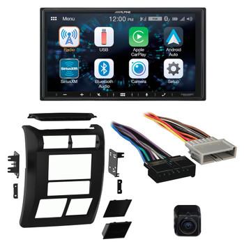 Alpine Bundle - Alpine ILX-W650 Multimedia Receiver with Dash Kit, Wiring Harness, and B/U Camera, Compatible with Wrangler, 97-02