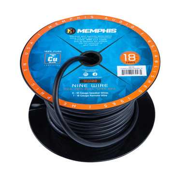 Memphis Audio 9W100 18 Gauge 9 conductor Wire, 100ft.