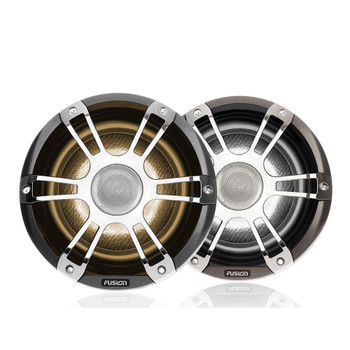 """Fusion 1 Pair SG-FL652SPC Signature Series 6.5"""" Silver/Chrome Sports Grille, RGBW Illumination with MS-CRGBWRC CRGBW lighting control module with wireless remote."""