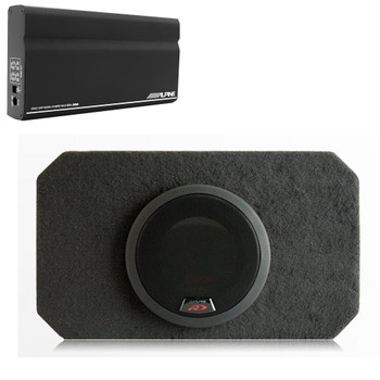 "Alpine KTA-200M Mono Power Pack Amp with Alpine SBR-S8-4 8"" Loaded Subwoofer Enclosure"