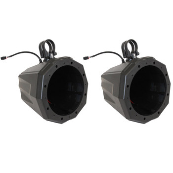 """SSV Works US2-C8U-150 Universal Cage Mount 8"""" Speaker Enclosures With 1.50"""" Roll Bar Clamps"""