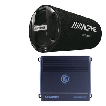 "Alpine SWT-12S4 12"" Bass System with Memphis SRX150.2 Amplifier"