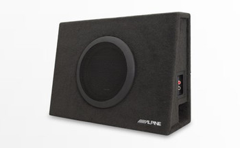"Alpine KTA-200M Mono Power Pack Amp with Alpine SBT-S10V 10"" Loaded Subwoofer Truck Enclosure and Bass Knob"