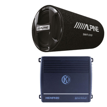 "Alpine SWT-S10 10"" Bass System with Memphis SRX150.2 Amplifier"