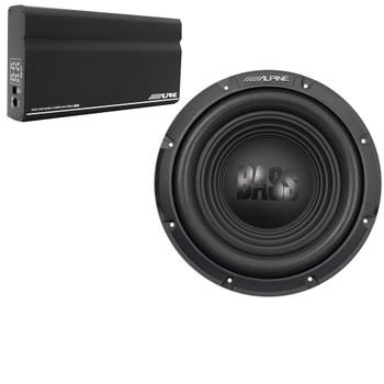 "Alpine KTA-200M Mono Power Pack Amp with Alpine W10S4 10"" Subwoofer"