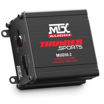 MTX Audio MUD50.2 Thunder Sports 50W x 2 @ 2Ω Full Range Class D Marine Grade Amplifier