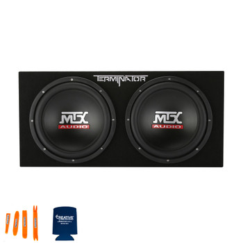 "MTX Audio TNP212D2 Terminator Series Dual 12"" 400W RMS Sealed Enclosure and Mono Block Amplifier"