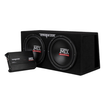 "MTX Audio TNP212DV Terminator Series Dual 12"" 1000W RMS Vented Enclosure and Mono Block Amplifier"