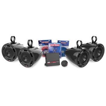 MTX Audio BORVKIT2 Universal UTV 4 Speaker Package With Bluetooth Controller