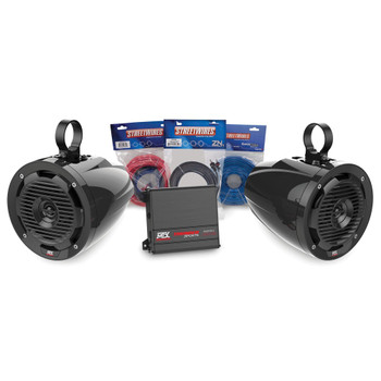 MTX Audio ORVKIT3 Universal UTV 2 Cage Mount Speaker Add-on Package