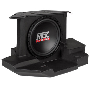 "MTX Audio GENERAL-10 Amplified 10"" Subwoofer Enclosure - Compatible With Select 2017+ Polaris General Vehicles"