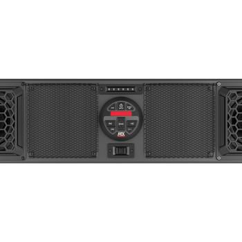 "MTX Audio MUDSYS46 4-Speaker 140 Watt Amplified Overhead Sound Bar With Bluetooth/AM/FM/Aux Source - Fits widths 49.25"" - 56"""