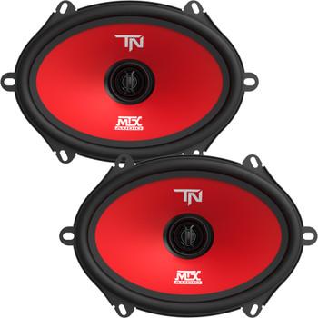"MTX Audio TERMINATOR68 Terminator Series 5x7""/6x8"", 2-Way, 55W RMS 4-Ohm Coaxial Speaker Pair"
