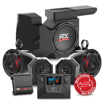 """MTX Audio RZRSYSTEM3 - Includes An All Weather Radio, Front Speaker 6.5"""" Pods, Rear 6.5""""Cage-Mount Pods, A 400-Watt Amplifier & Loaded 10"""" Subwoofer Enclosure For Select 2014-2018 Polaris RZR"""
