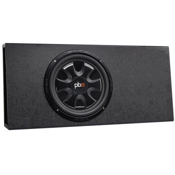 """PowerBass Party Pack - Single 12"""" Subwoofer in truck enclosure with ASA3-300.2 Amplifier and Wiring Kit"""