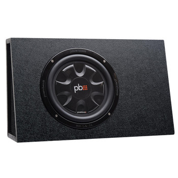 """PowerBass Party Pack - Single 10"""" Subwoofer in truck enclosure with ASA3-300.2 Amplifier and Wiring Kit"""