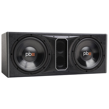 """PowerBass Party Pack - Dual 12"""" Subwoofers in vented enclosure with ASA3-400.2 Amplifier and Wiring Kit"""