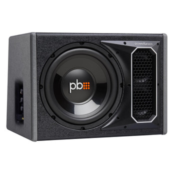 "PowerBass Party Pack - Single 10"" Subwoofer in vented enclosure with ASA3-300.2 Amplifier and Wiring Kit"