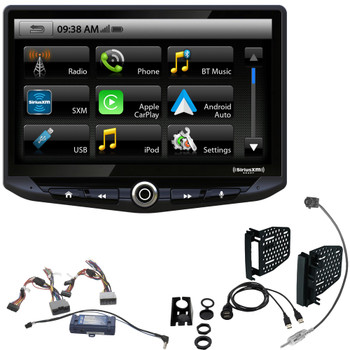 Stinger STH10JK - 10-Inch Radio compatible with Android Auto, Apple CarPlay, Bluetooth, GPS Navigation, Includes Dash Kit & Interface, Compatible with Jeep Wrangler JK (2011-2018)