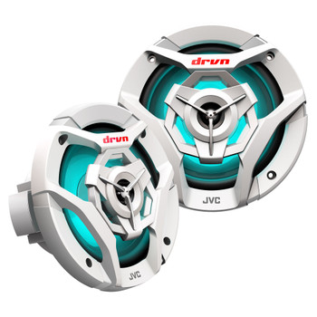 JVC CS-DR621MWL 6.5inch 2-Way Coaxial Speakers With RGB LED Illumination / Water Resistant (IPX5) / UV Resistant Woofers / Peak Power 260W / RMS Power 75W