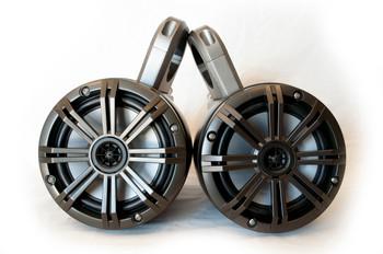 "Kicker Marine KMTES enclosures loaded W/ (2) 6.5"" Kicker Marine Speakers"
