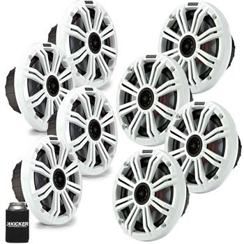 "Kicker 6.5"" White Marine Speakers (QTY 8) 4 pairs of OEM replacement speakers"