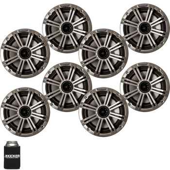 "Kicker 6.5"" Silver Marine Speakers (QTY 8) 4 pairs of OEM replacement speakers"