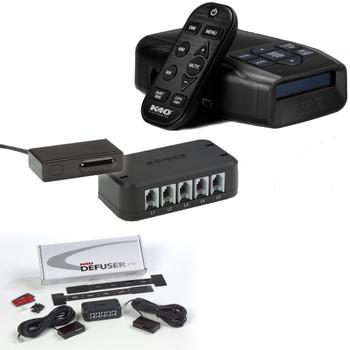 K40-100-RC Wireless Control Portable Dash Mount Radar Detector with DUAL LDO Dual Laser Defuser Optix Transponders